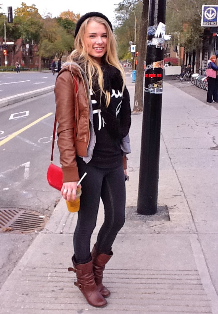 Brown Leather, Montreal Street Style
