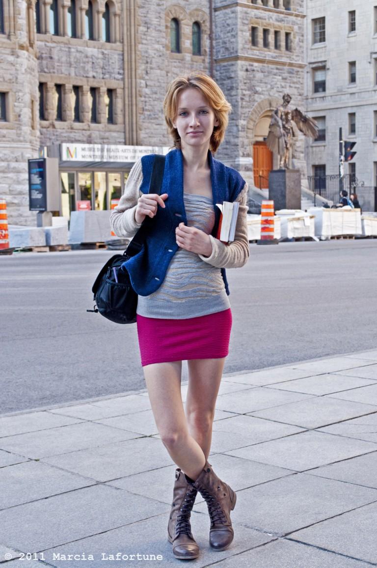 Pink Mini Skirt, Montreal Street Style