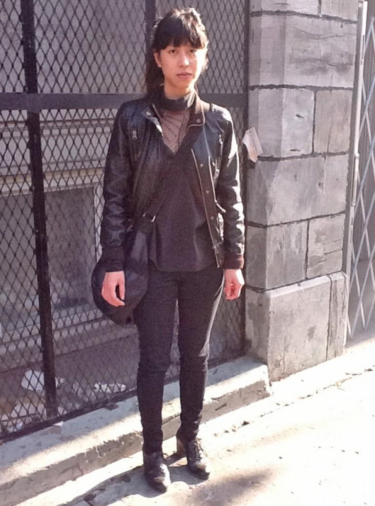 Black Peek a boo, Montreal Street Style