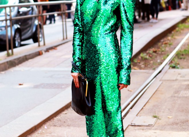 New Years Sparkle, Dolce & Gabbana Street Style
