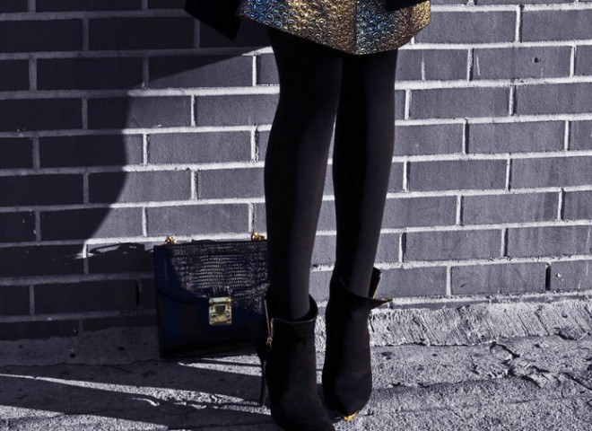 Gold Paisley Brocade, Street Style to ring in the New Year