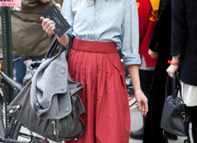 Midi Skirt, Spring Street Style