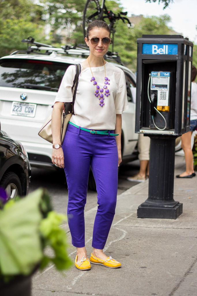Statement necklace, Montreal street style