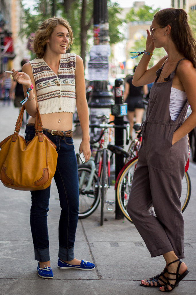 Crop top and yellow bag, Montreal street style