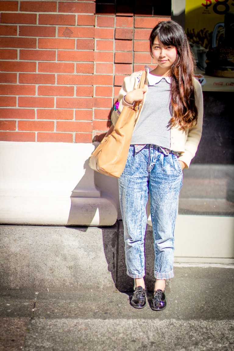 Acid Wash Jeans, Vancouver Street Fashion