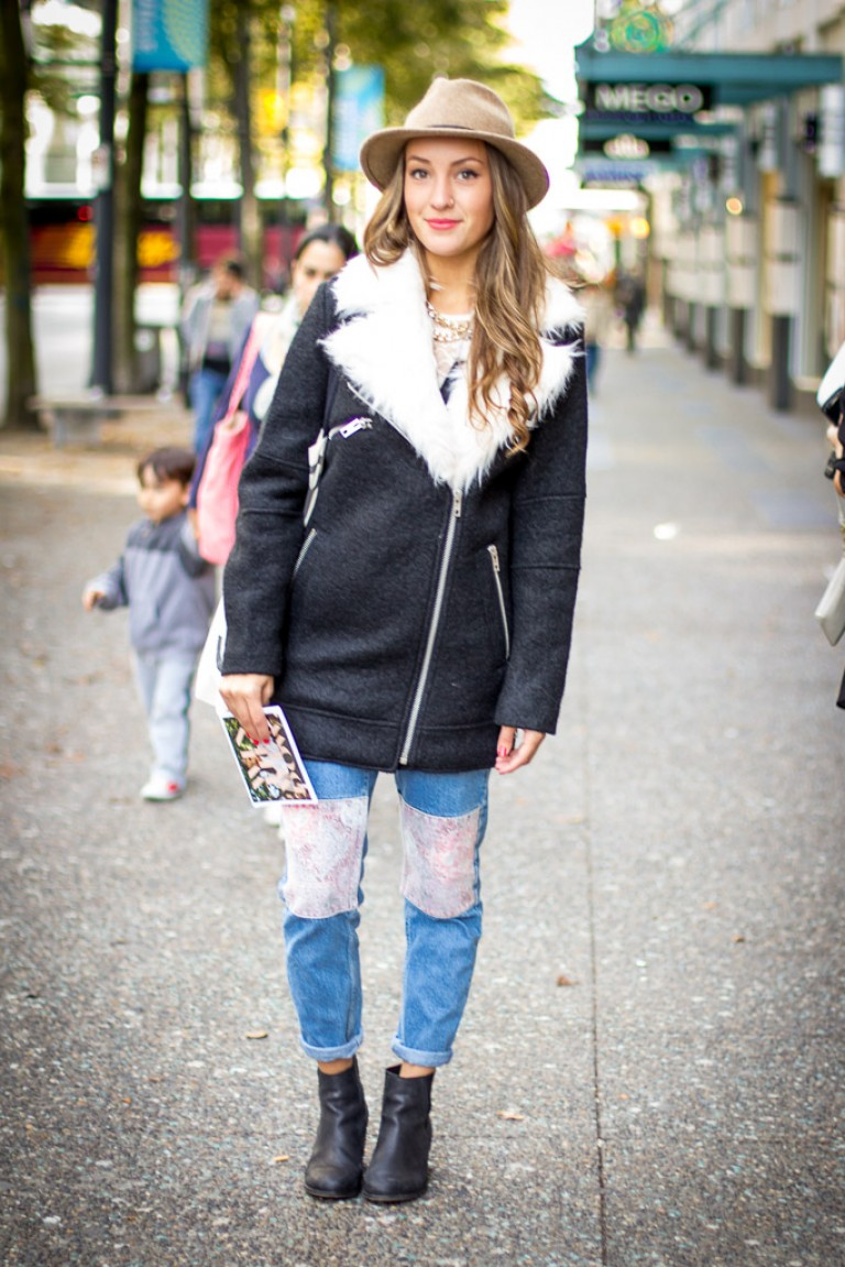 Topshop Canada – Patchwork Denim, Vancouver Street Style
