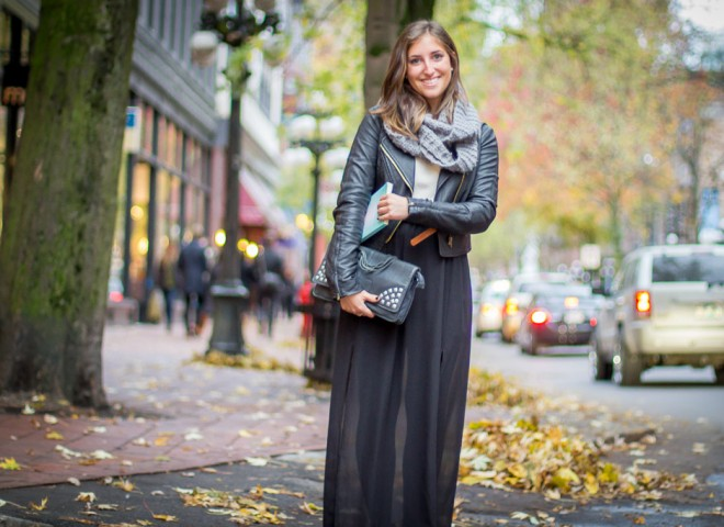 Sheer Maxi Skirt, Vancouver Street Style