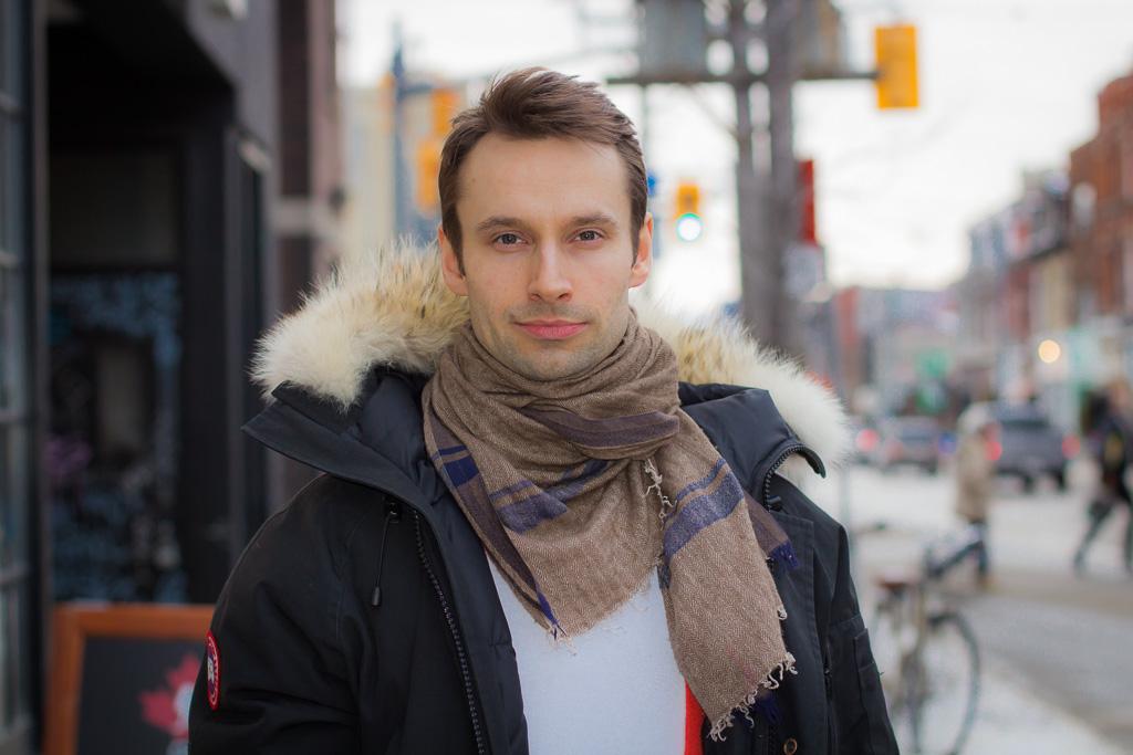 Canada goose jacket, Toronto street style
