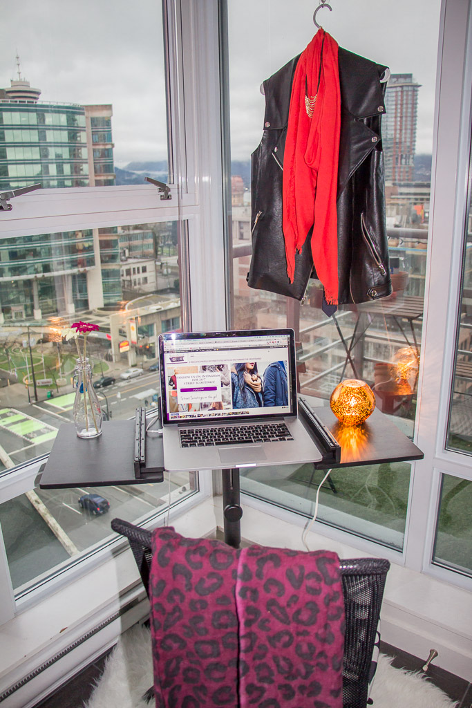 Vancouver fashion business, corner office