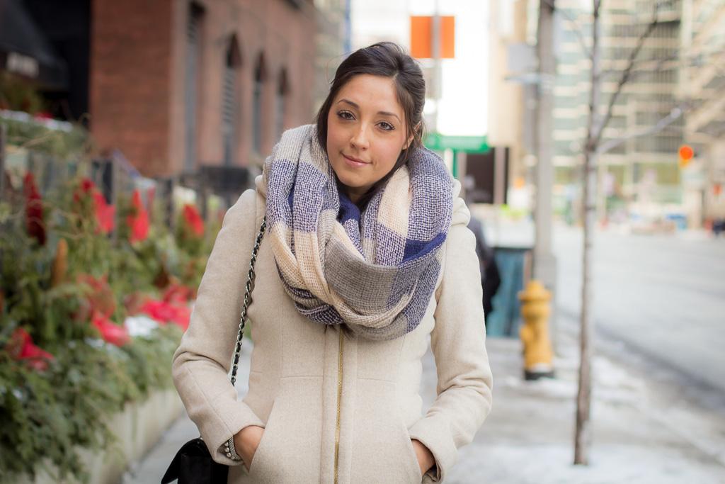 Wintery White Nude Hues Toronto Street Style Street Style Street Fashion Streetscout Me