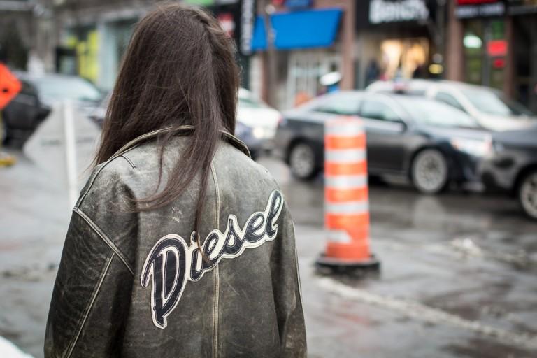 Vintage Diesel Bomber, Montreal Street Style