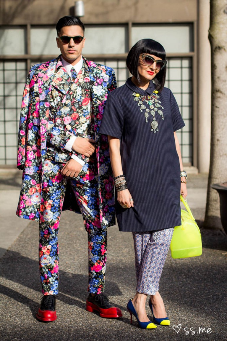 Floral Suit, Vancouver Fashion Week