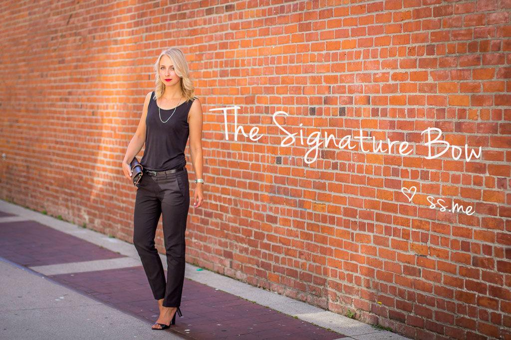 The signature bow fashion blog