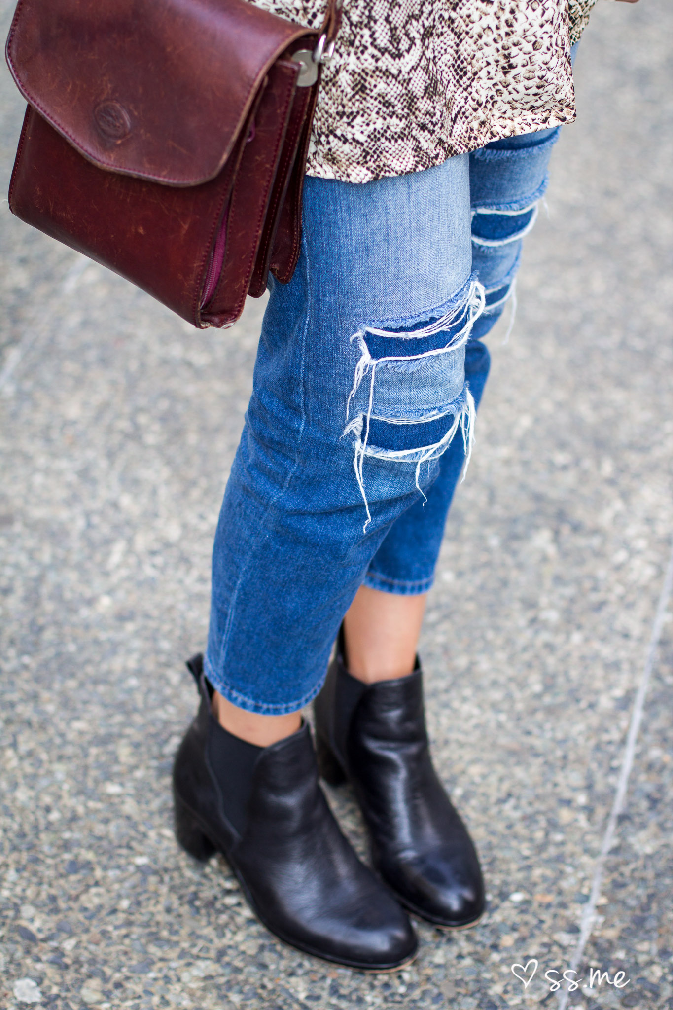 Ripped Jeans, Vancouver street style
