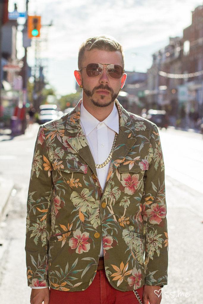 Printed suit