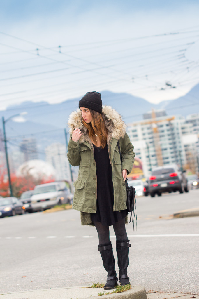 ToBruck Ave wearing summer clothes in winter