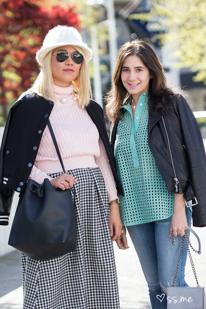 Street style at Eco Fashion Week press preview