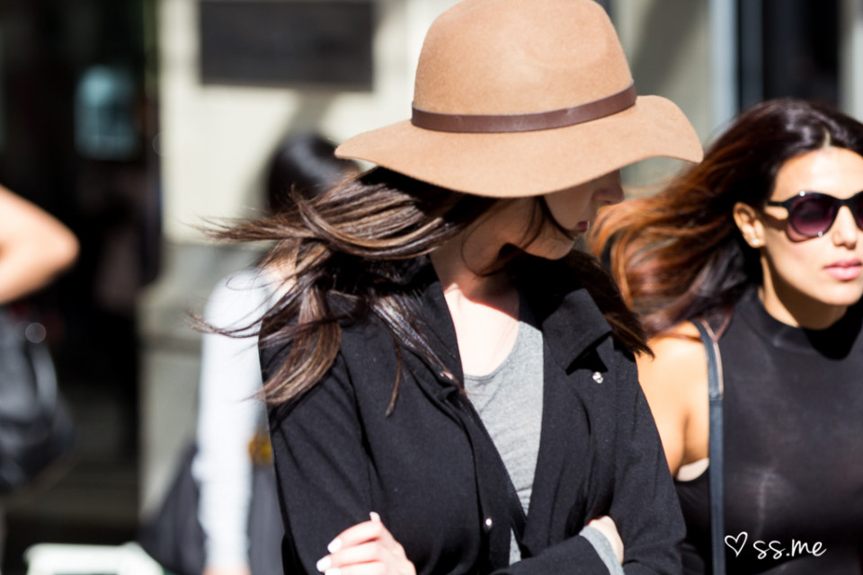 The wide brimmed hat
