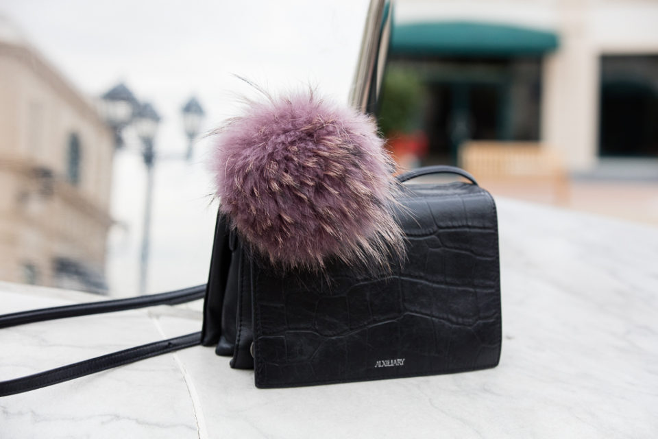 Puff ball purse accessory