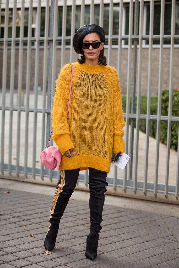 leather leggings, paris street style